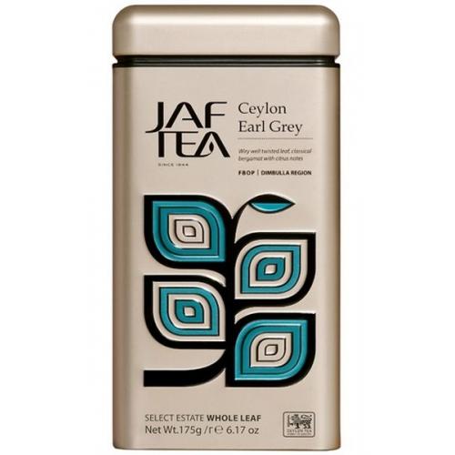 "JAFTEA черный чай ""Цейлон Седой Граф"" (Ceylon Earl Grey) жестяная банка 175g"