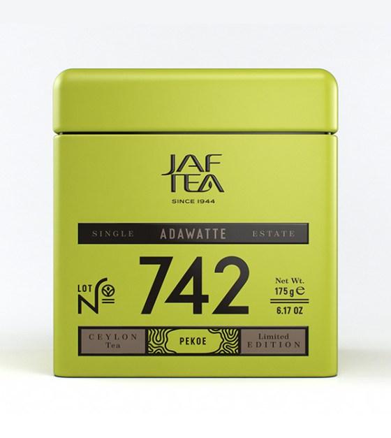 "JAFTEA (Джаф Ти)  черный чай №742 ""АДАВАТ"" (ADAWATTE) PEKOE жестяная банка 100g"