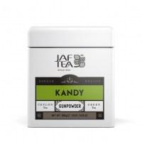 "JAFTEA (Джаф Ти)  зеленый чай ""КАНДИ"" (Kandy) GunPowder жестяная банка 100g"