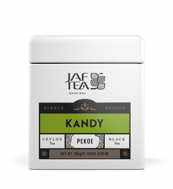 "JAFTEA черный чай ""КАНДИ"" (Kandy) Pekoe жестяная банка 100g"