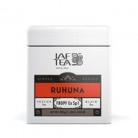 "JAFTEA (Джаф Ти)  черный чай ""РУХУНА"" (Ruhuna) FBOPF Extra Special жестяная банка 100g"