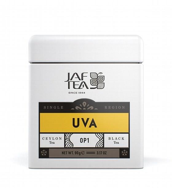 "JAFTEA (Джаф Ти)  черный чай ""УВА"" (Uva) OP1 жестяная банка 90g"