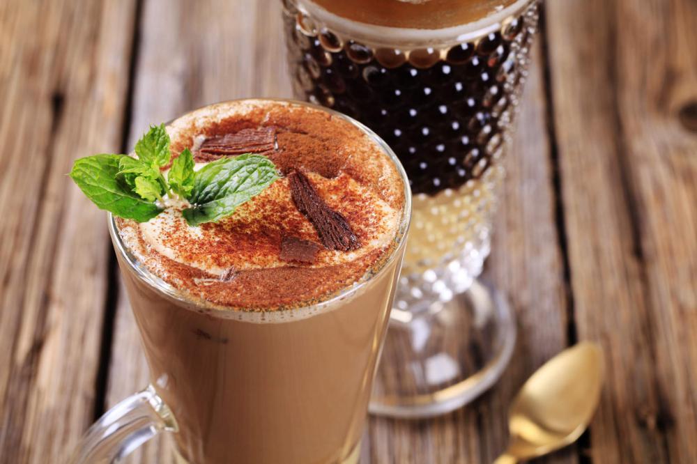 Приготовление кофе. Рецепты. Рецепты со специями. Мятный шоколадный кофе.