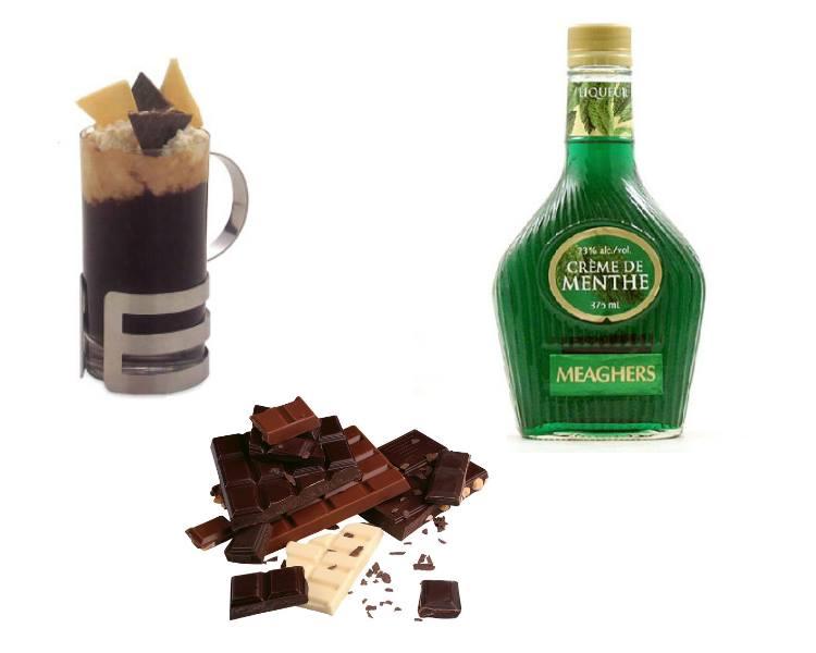 Приготовление кофе. Рецепты с добавлением алкоголя. Кофе «Кузнечик».