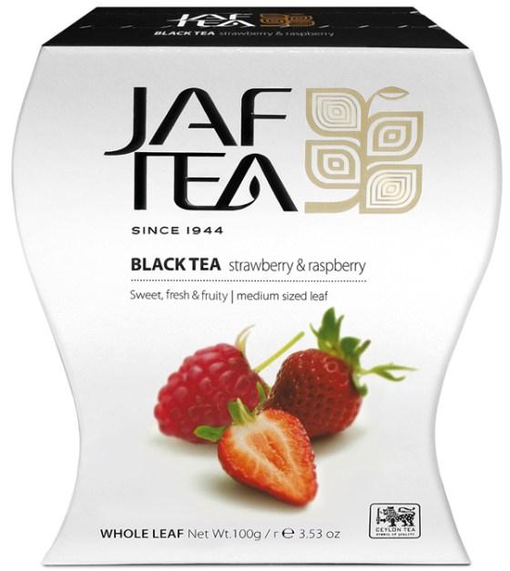 "JAFTEA (Джаф Ти) черный чай ""Клубника и малина"" (Strawberrry & Raspberry) 100g"