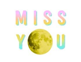 miss you moon - light