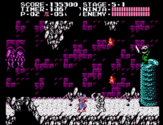 NES Stage 5-1 enemy on top of pillar