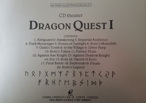dragon quest 1 cd theater booklet back cover