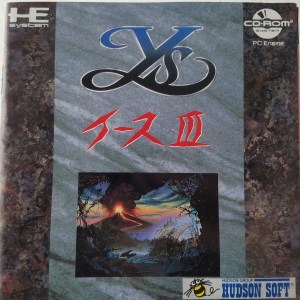 Ys III pc-engine instruction manual front cover