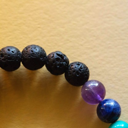 Essential Oil Chakra Bracelet | Golden Blue