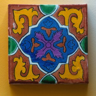Mexican Tile | Golden Blue
