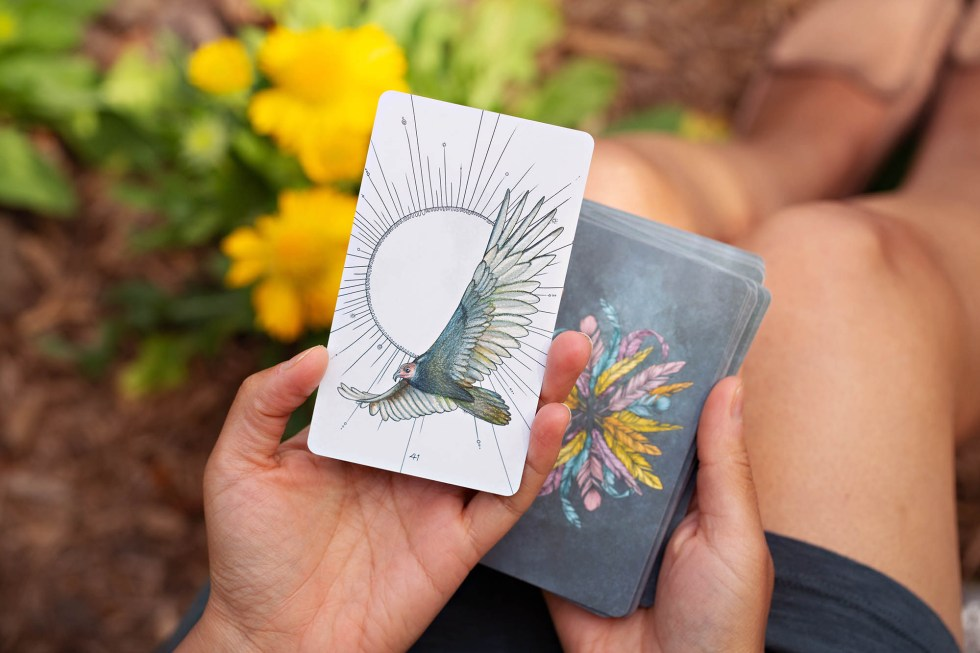 Birds Oracle Deck | Golden Blue