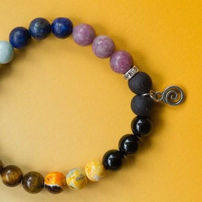 Chakra Crystal Bracelet | Golden Blue