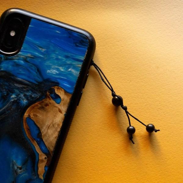 Shungite Phone Charm | Golden Blue
