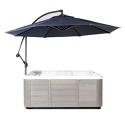 Essentials Spa Side Umbrella - Blue