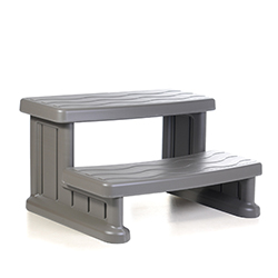 Essentials Cover Valet Spa Side Step - Warm Grey