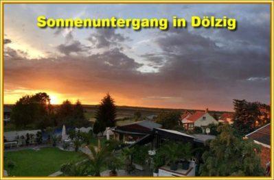 Sonnenuntergang in Dölzig