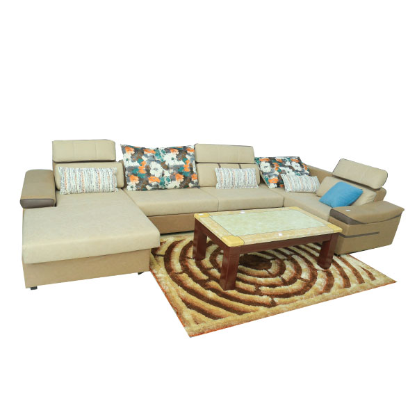 modern large fabric u shape sectional sofa