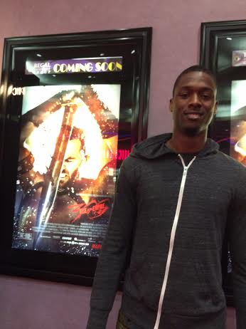 "Harrison  Barnes at a screening of ""300: Rise Of An Empire"" Thursday night in Oakland. (Courtesy photo)"