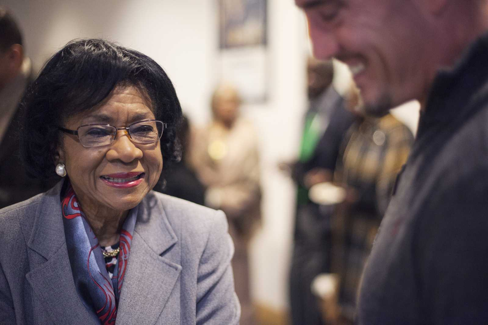 Belva Davis tells stories and reads passages from her new book,