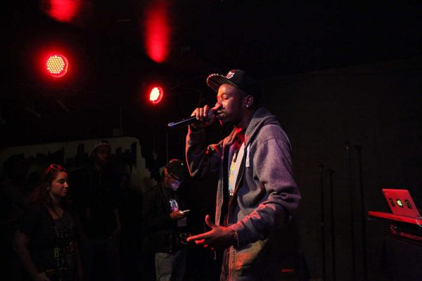 Deadly Forte during his set at The Depot on Thursday, Oct. 29, 2014. Lorisa Salvatin/Xpress.