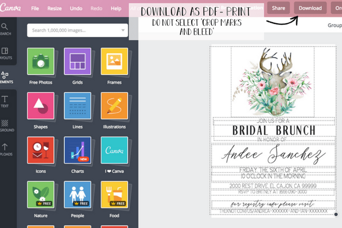 how to make bridal shower invitations at home without stressing out https