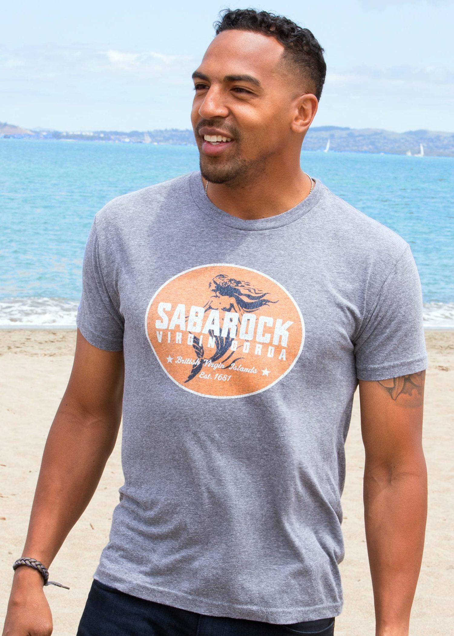 Men's Saba Rock Triblend Jersey Crew T-Shirt