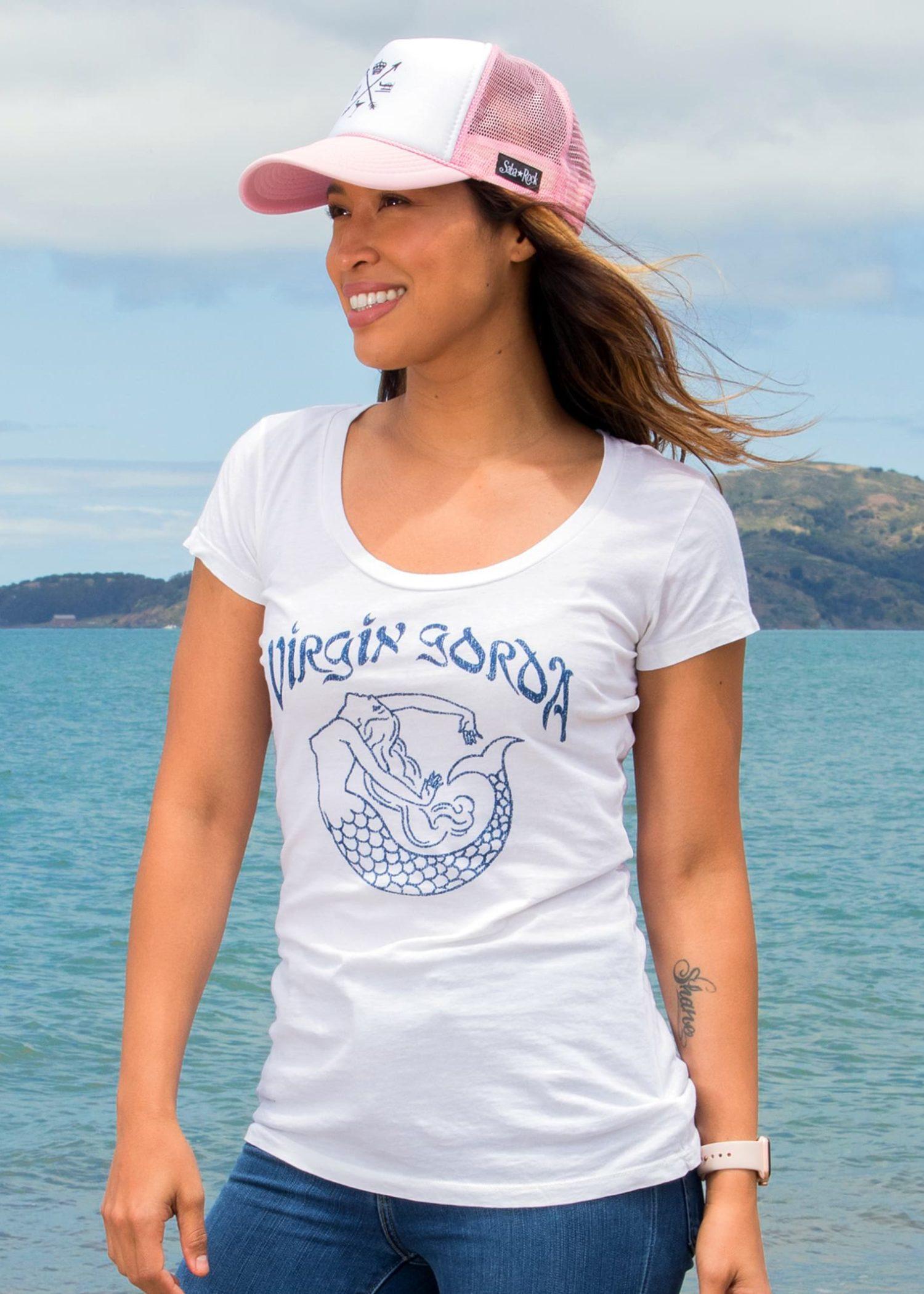Women's White Saba Rock Jersey Scoop T-Shirt