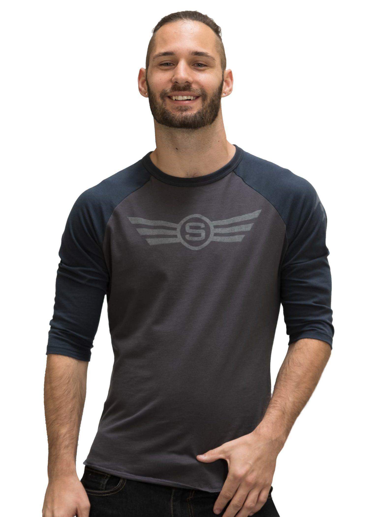 Men's Silver Air Contrast Sleeve T-Shirt