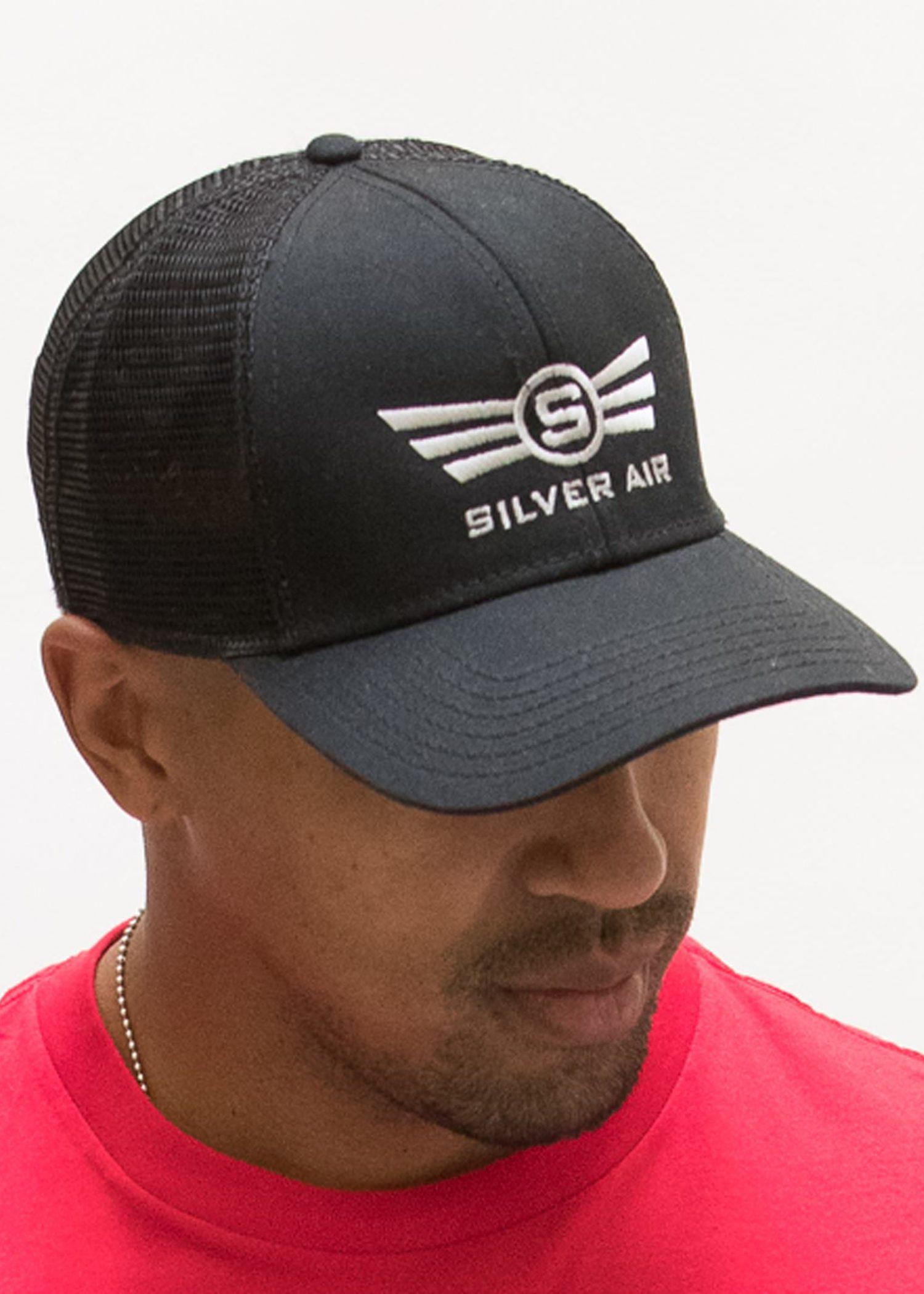 Silver Air Mesh Trucker Hat