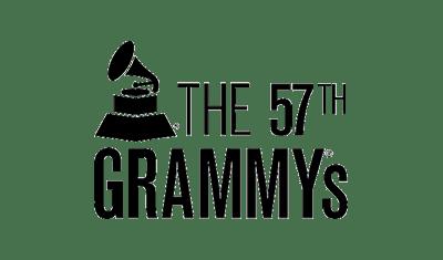 the 57th grammys logo