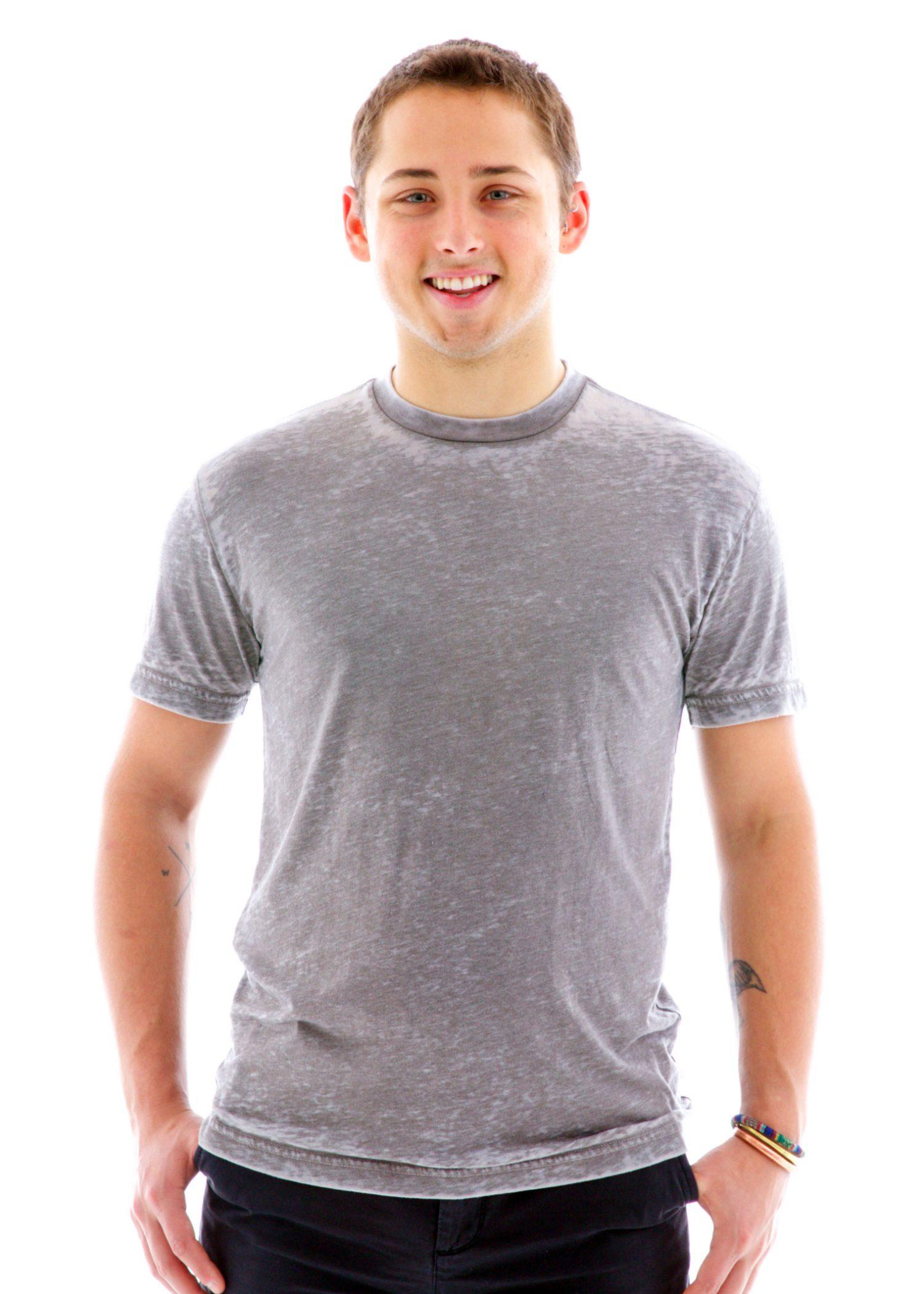 Burnout Crew Short Sleeve T-Shirt Front View