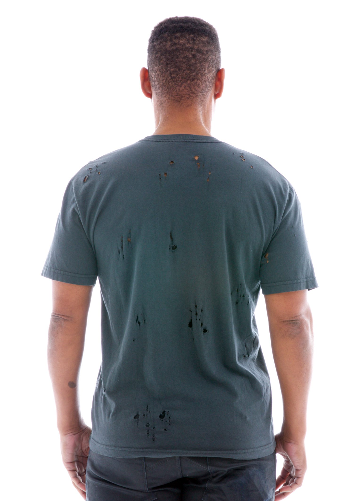 Destroyed Crew Short Sleeve T-Shirt Back View