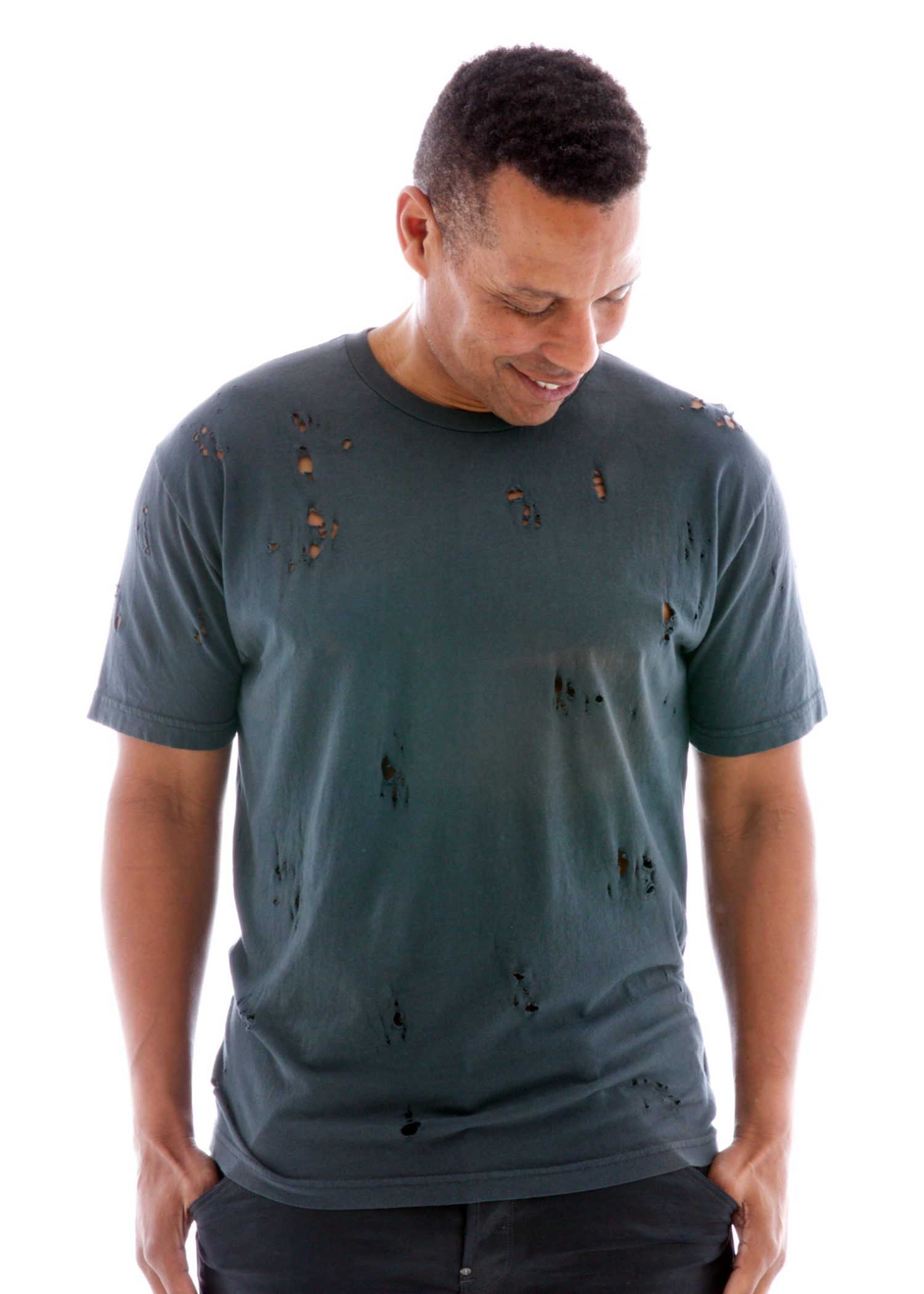 Destroyed Crew Short Sleeve T-Shirt Front View