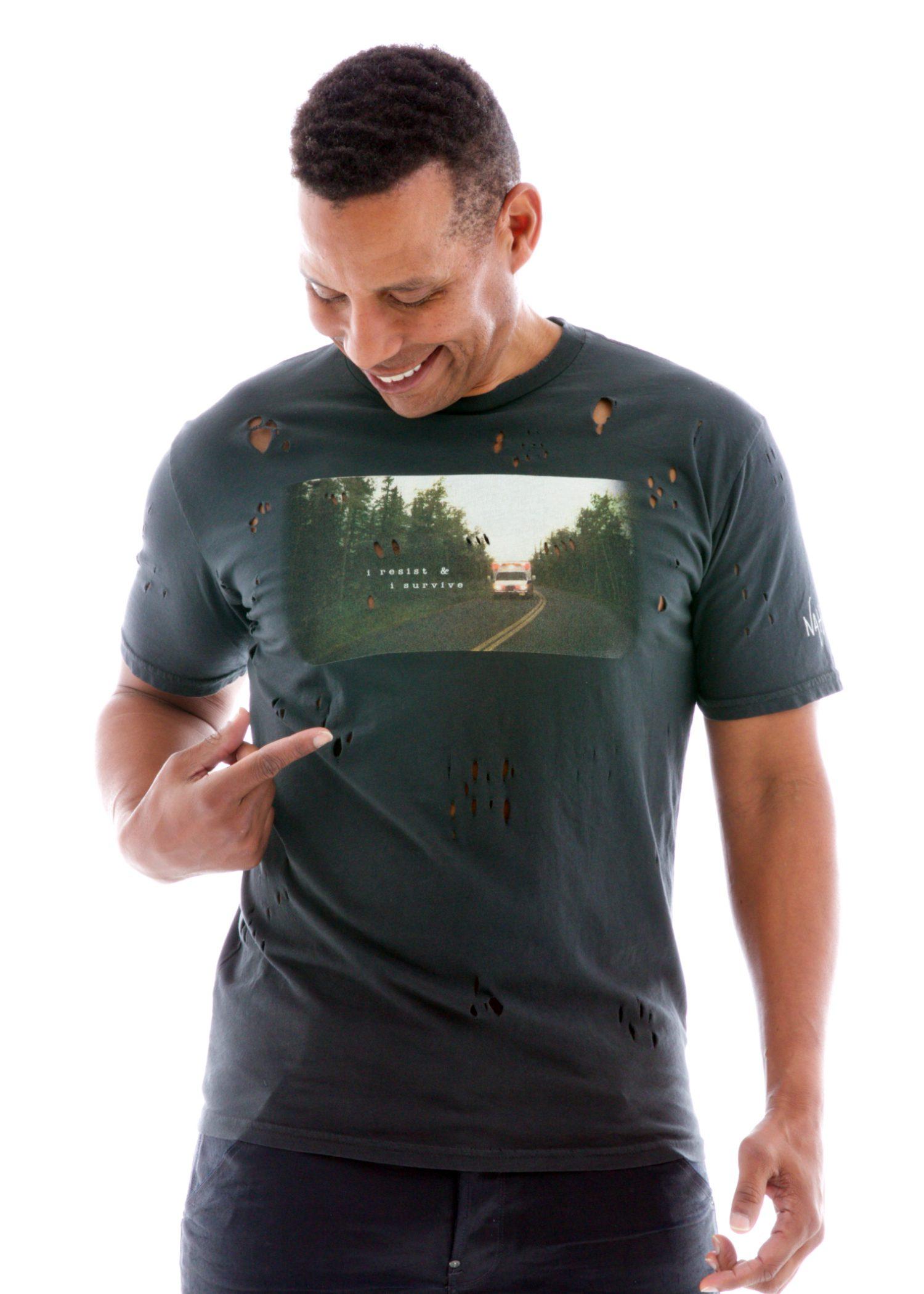 Men's Destroyed Crew Short Sleeve T-Shirt