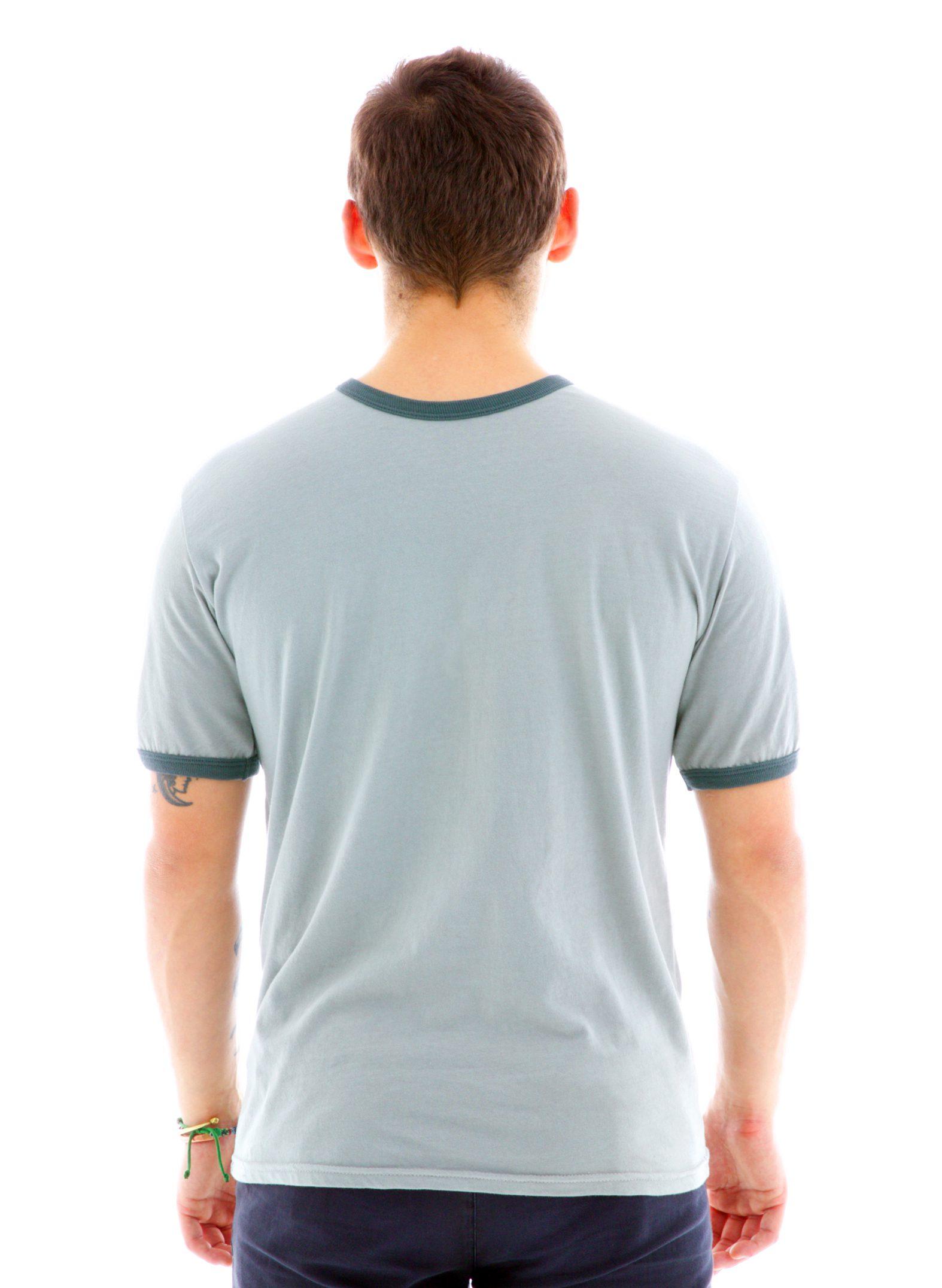 Ringer Crew Short Sleeve T-Shirt Back View