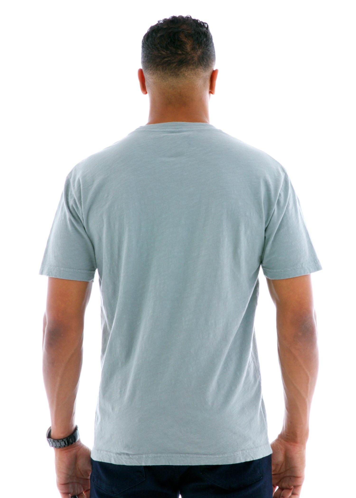 Slub Jersey Short Sleeve T-Shirt Back View