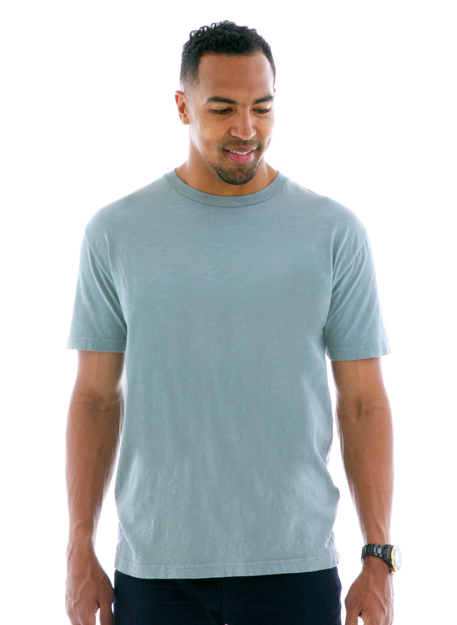 Slub Jersey Short Sleeve T-Shirt Front View