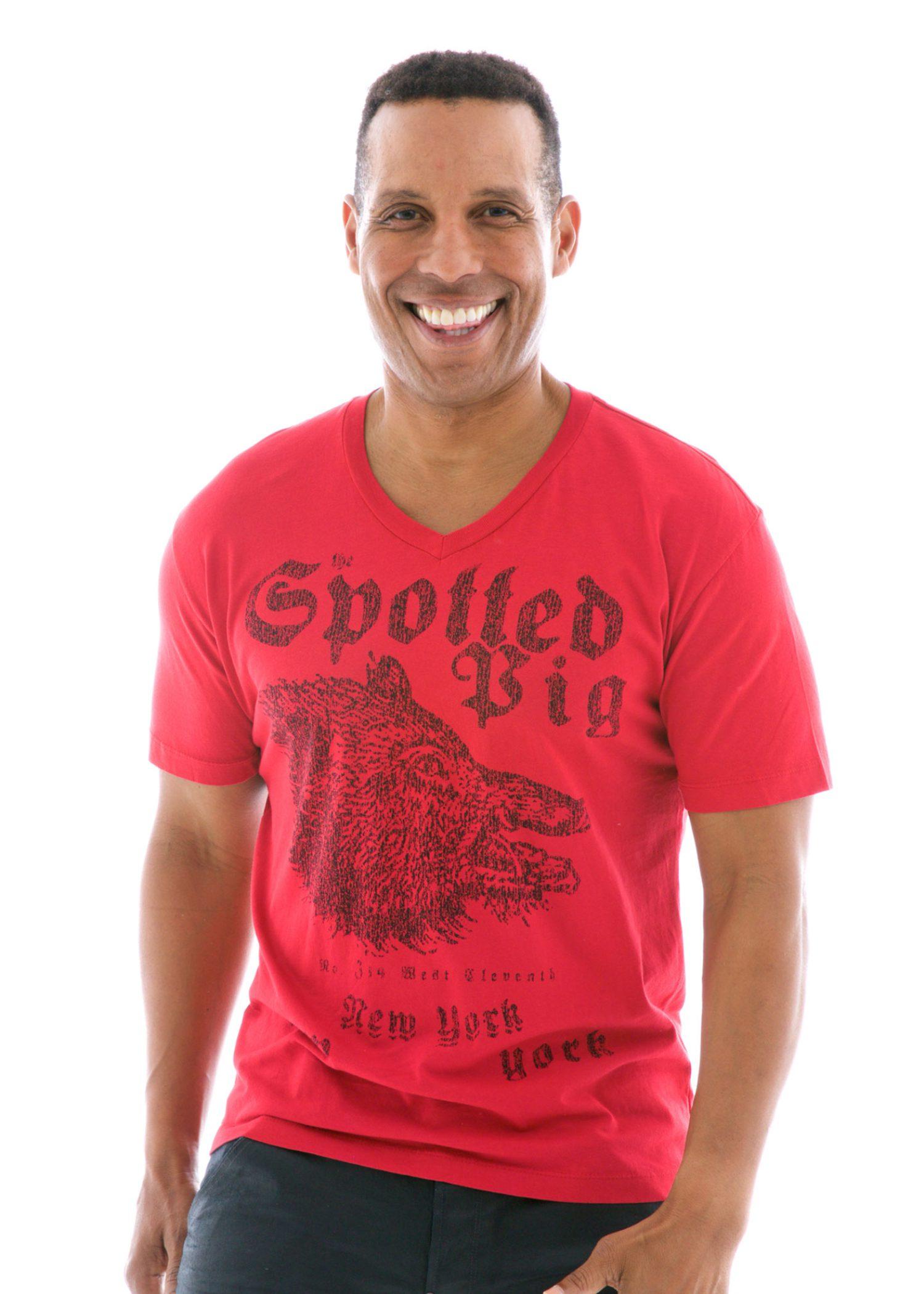 Men's Fine Jersey V-neck Short Sleeve T-Shirt