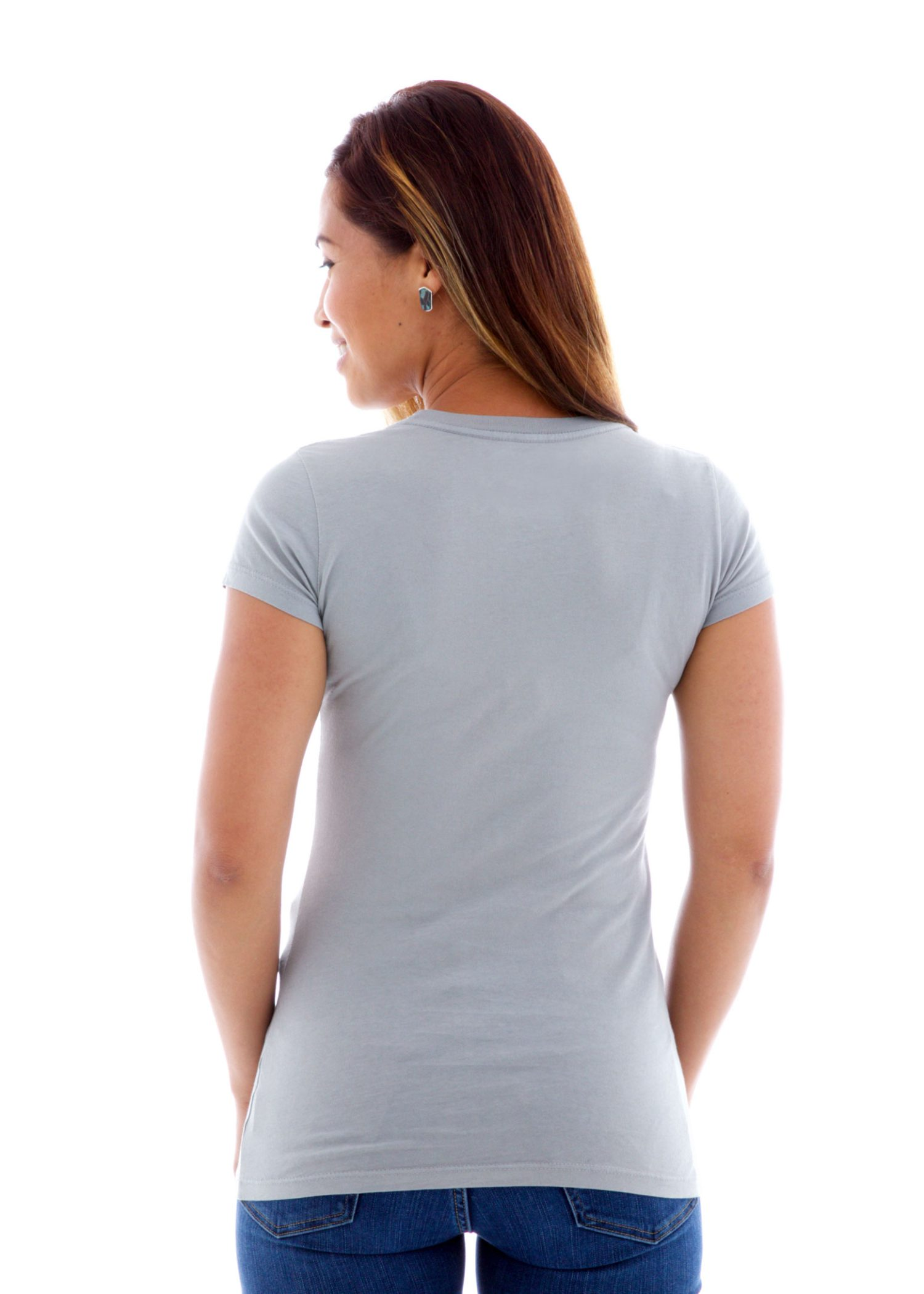 Fine Jersey Crew Short Sleeve T-Shirt Back View