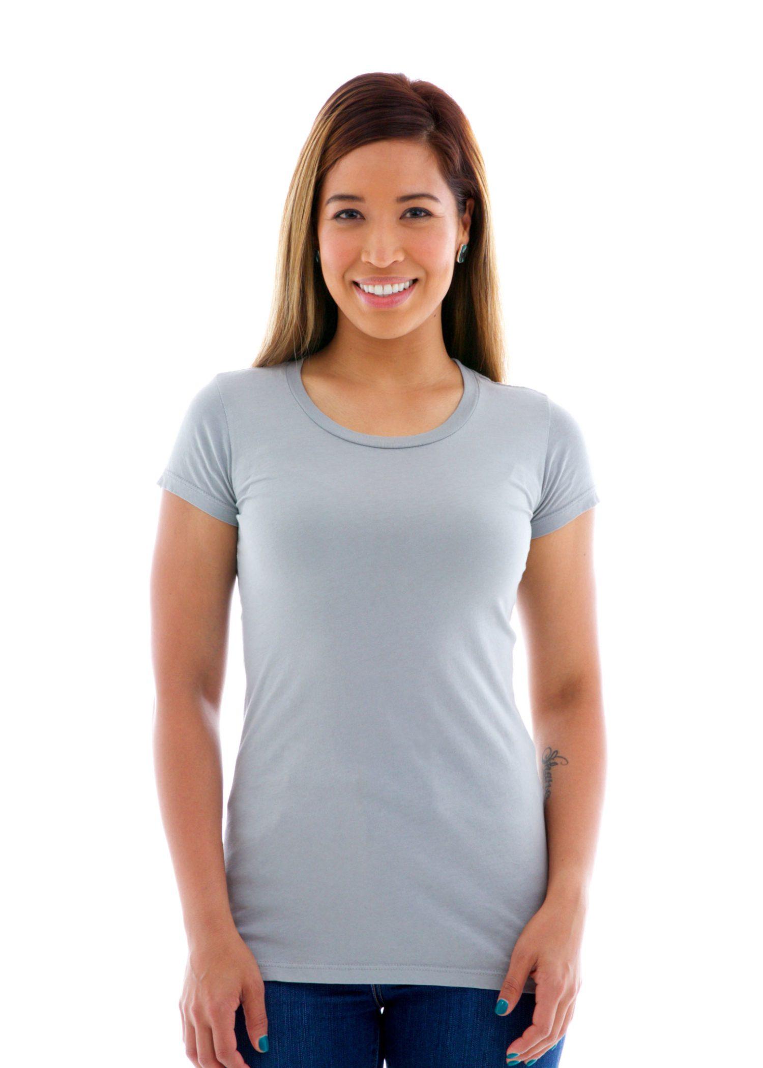Fine Jersey Crew Short Sleeve T-Shirt Front View