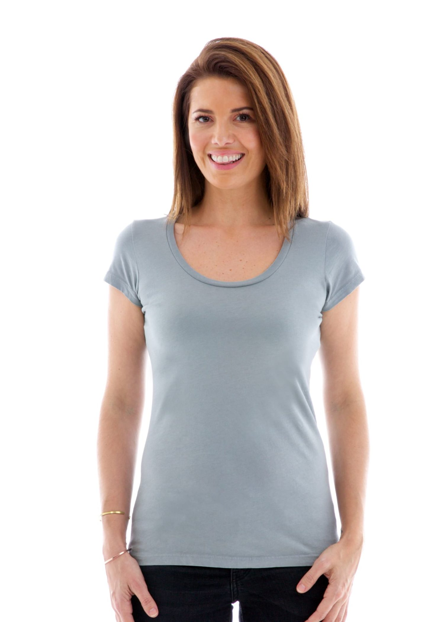 Fine Jersey Scoop Short Sleeve T-Shirt Alternate View