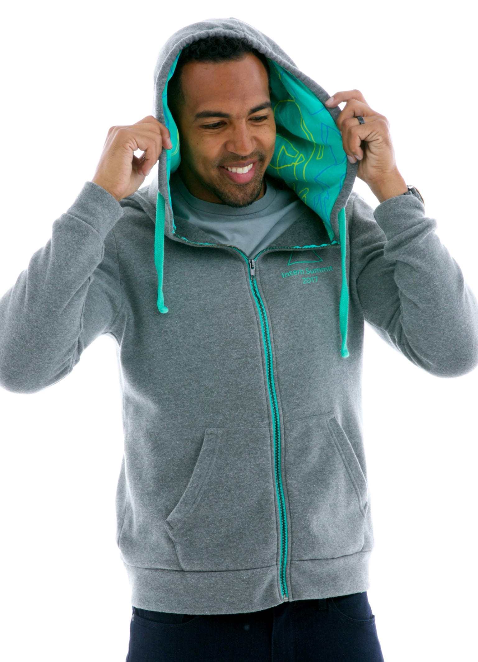 Vintage Fleece Zip Custom-lined Hoodie