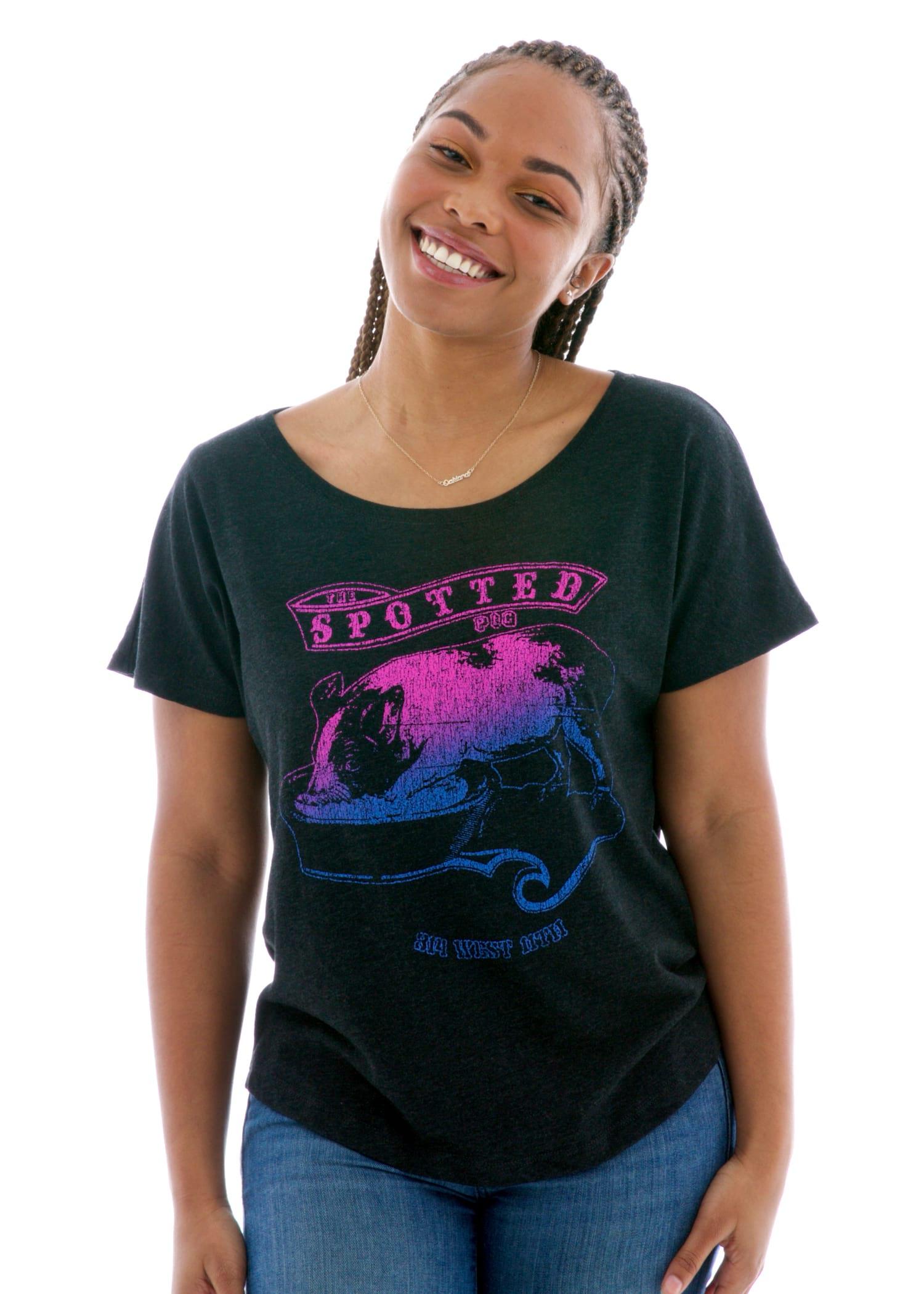 Women's Triblend Dolman Short Sleeve T-Shirt