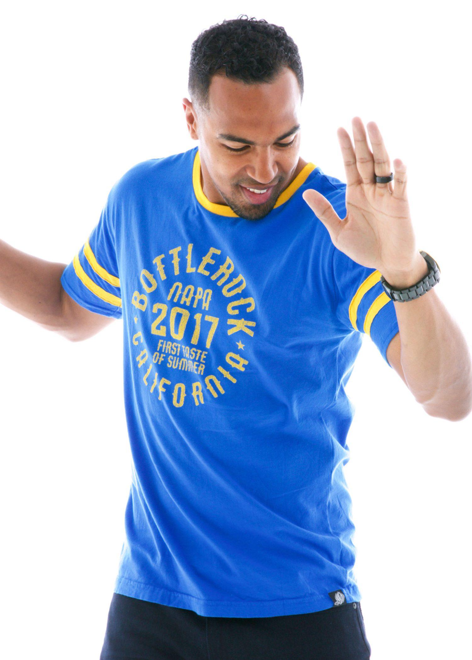 Men's Striped Sport Ringer Short Sleeve T-Shirt