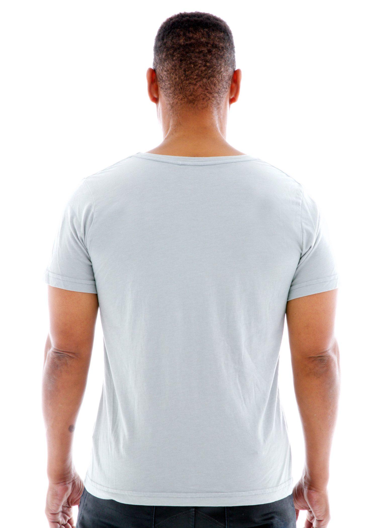 Superfine Jersey Fashion Crew Short Sleeve T-Shirt Back View