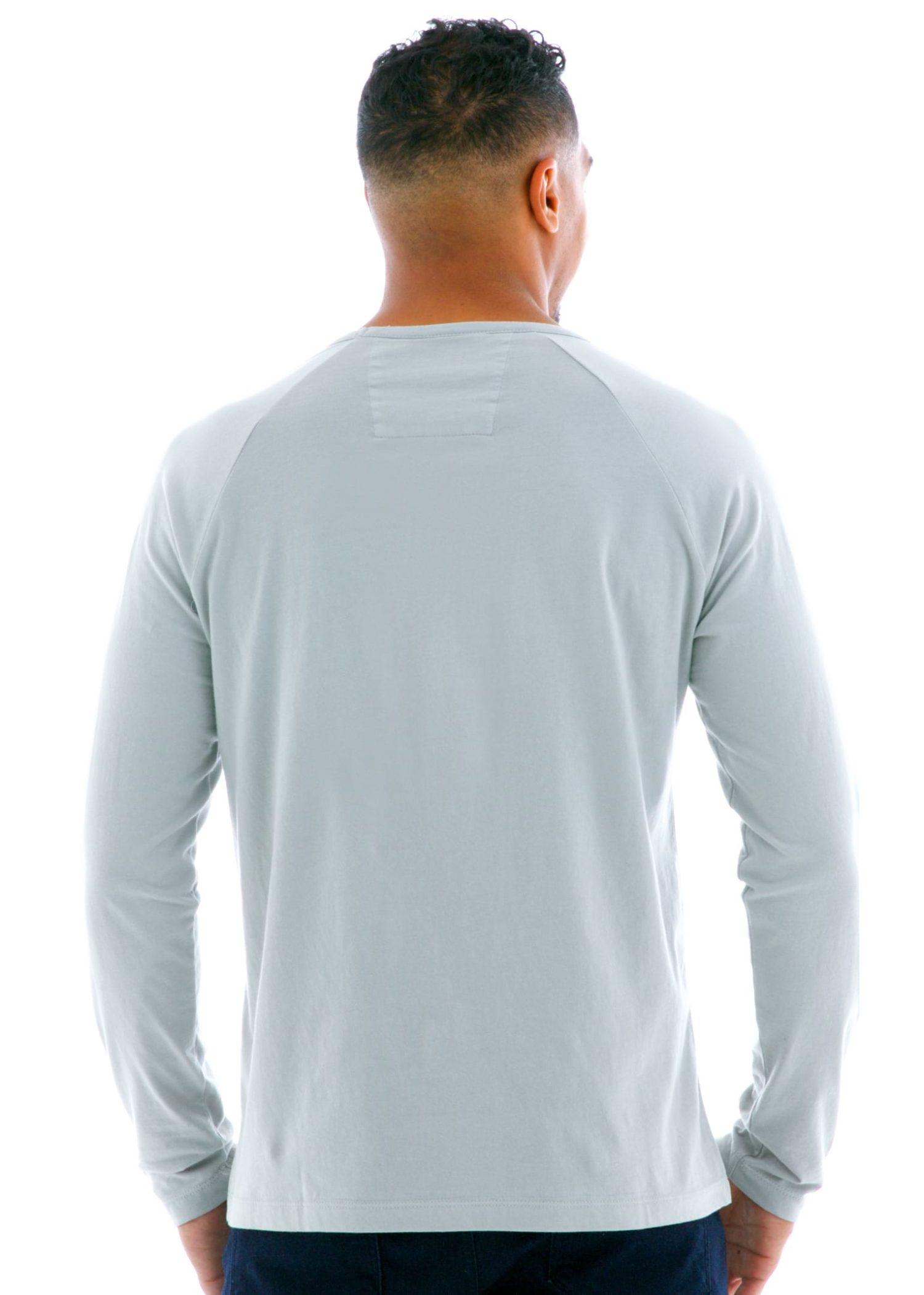 Long Sleeve Raglan Crew T-Shirt Back View