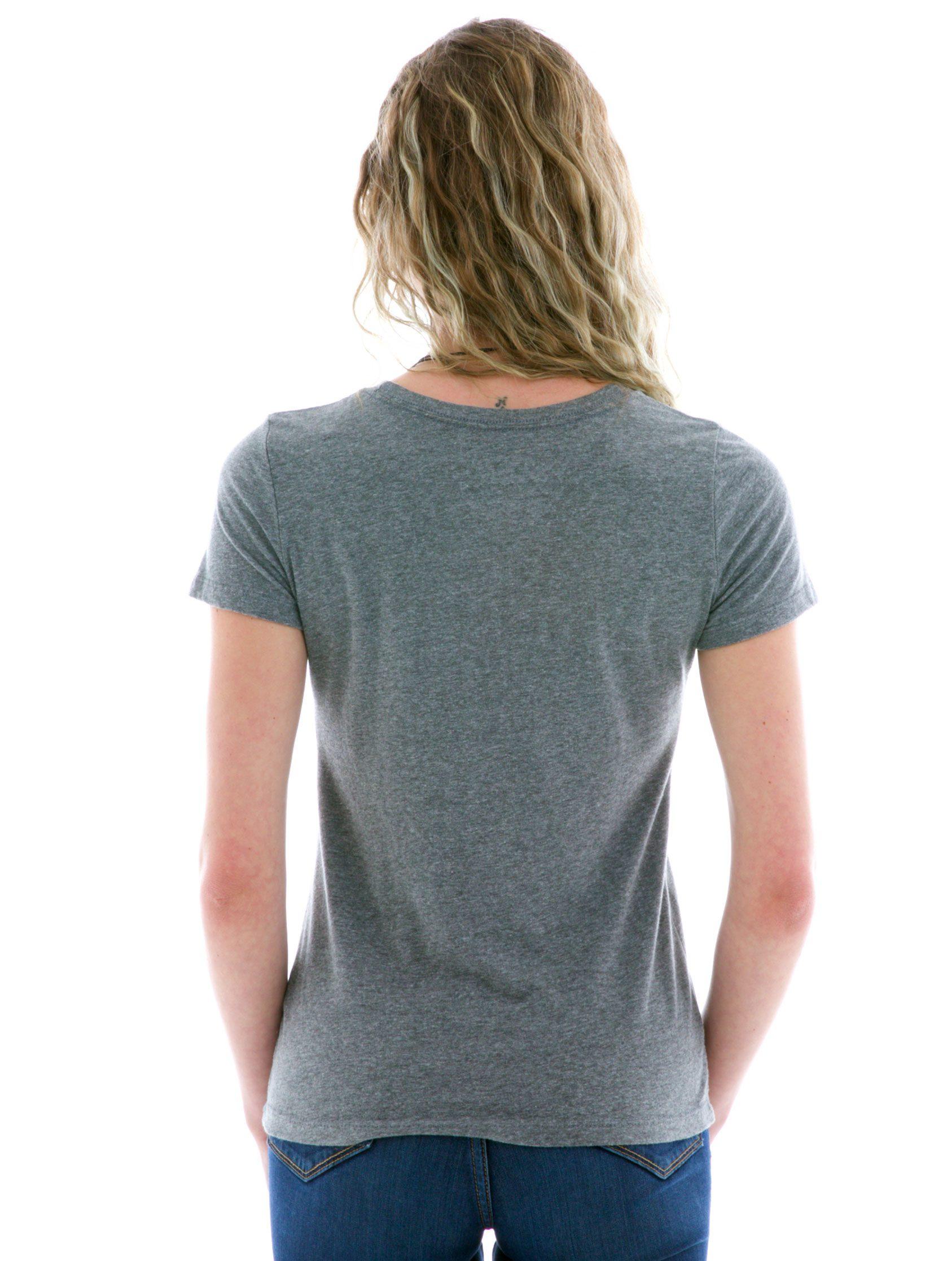 Luscious Triblend Crew Short Sleeve T-Shirt Back View