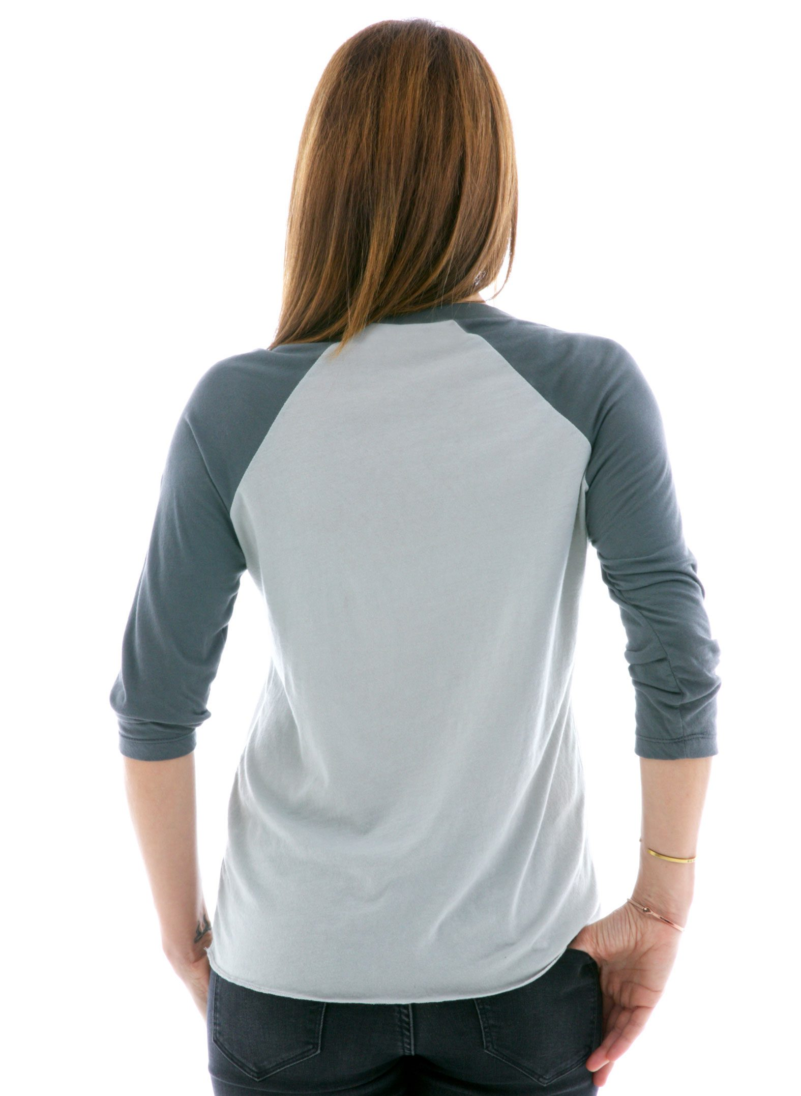 Long Sleeve Raglan Jersey Back View