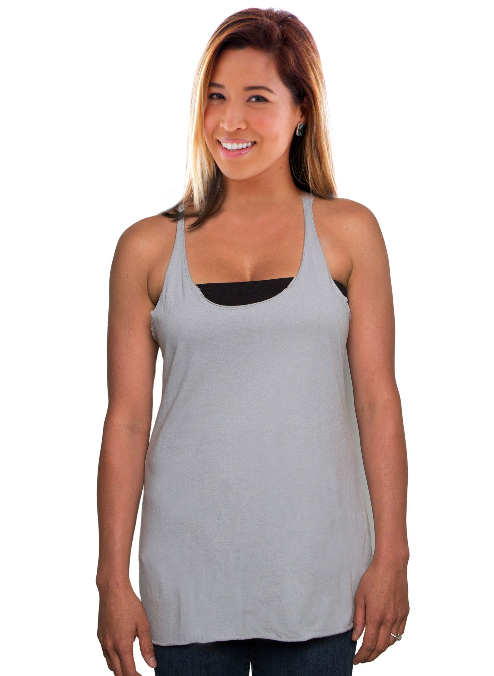 Raw Edge Tank Top Front View